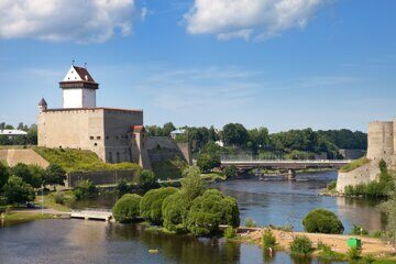 Estonia. Narva. Ancient fortress on border with Russia